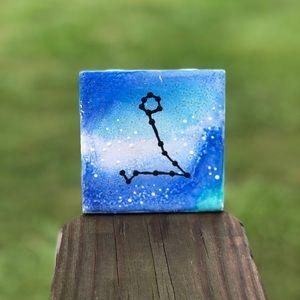 Other - Blue Pisces Zodiac Constellation Ceramic Art Decor
